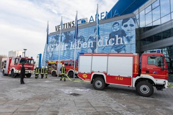 Evakuierungsübung in der VELTINS-Arena 08.12.2012 Copyright :Karsten Rabas