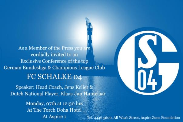 Schalke04 Exclusive Press Conference_TheTorchDoha on Monday Jan 7th 2013