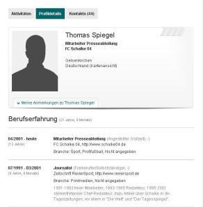 Thomas Spiegel Xing Profil am 01.03.2013. Seit dem 24.12.2012 ist sein Profilbild nicht mehr zu sehen.