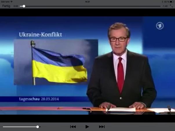 Die ARD Tagesschau vom 28.03.2014 Bericht über Demonstrationen in Kiev. Es wird von rechtsextremen Gruppen berichtet, die gegen die aktuelle Pseudo Regierung demonstrieren.