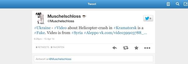 Der Hinweis dass das Hubschrauber Video eine Falschmeldung ist. Aber auch hier wurde die Nachricht weiter im Netz belassen.