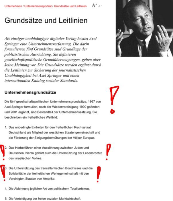 Grundsätze und Leitlinien Axel Springer Gruppe