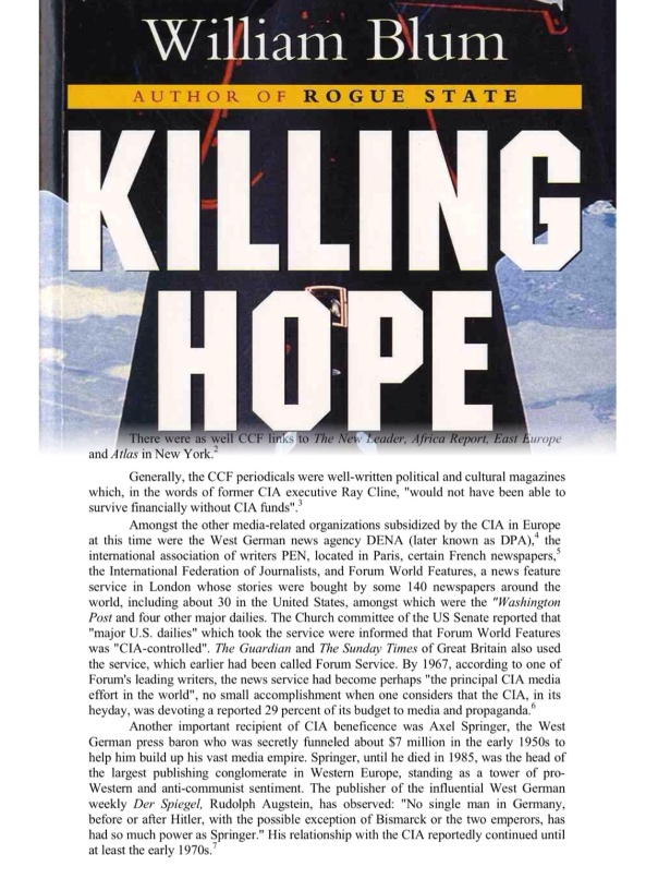 Killing Hope  US Military & CIA Interventions since World War II by William Blum