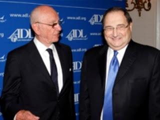 Rupert Murdoch (SKY) mit dem ADL-Chef Foxman