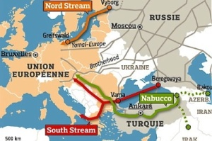 Die Gaspipelines Nord Stream, South Stream und Nabucco