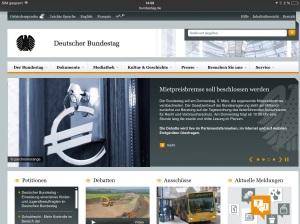 """Homepage """"Der Bundestag""""  http://www.bundestag.de/"""