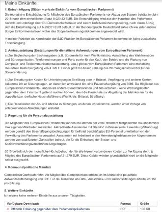 Selbstauskunft des  EU-Abgeordneten  Matthias Groote Quelle:  http://www.matthias-groote.de/persoenlich/einkuenfte/