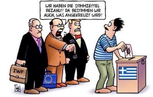 Diktatur vs. Demokratie  Troika/EU bestimmt wo es lang geht.