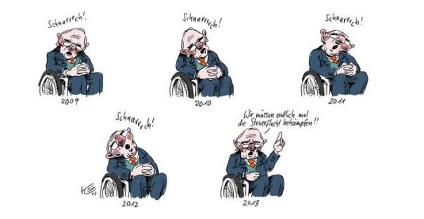 Steuerflucht - Harmonisierung der Unternehmensteuern nicht mit Wolgang Schäuble alias Mr. Tax Haven
