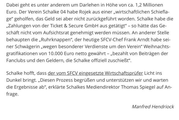 Erste Strafanzeige im Streit um Schalker Fan-Club Verband Quelle: derwesten.de