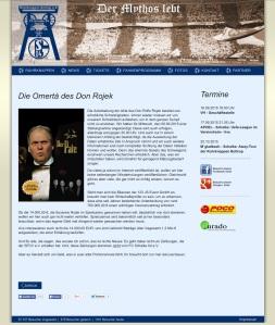Screenshot der Ruhrknappen Bottrop Homepage vom 16.09.2015