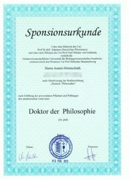 """Der Weg zum """"Schummel - Dr. Titel"""""""