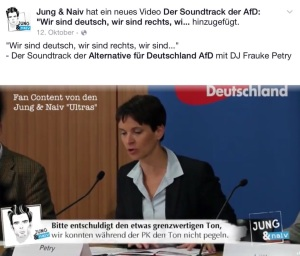 Facebook Jung & Naiv 30.01.2016 Grenwertiges Video zur AfD